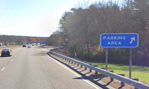 ma interstate 495 massachusetts i495 parking rest area mile marker 10 southbound off ramp exit