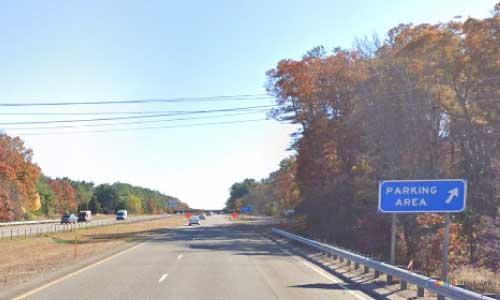 ma interstate 495 massachusetts i495 parking rest area mile marker 11 southbound off ramp exit