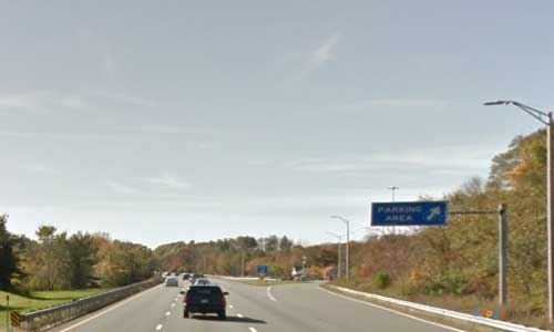 ma interstate 495 massachusetts i495 rest area mile marker 114 southbound off ramp exit