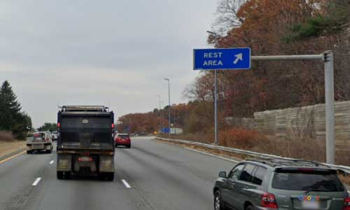 ma interstate 495 massachusetts i495 rest area mile marker 87 southbound off ramp exit