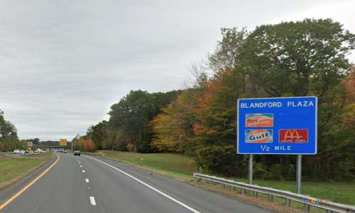 ma interstate 90 massachusetts i90 turnpike blandford service plaza mile marker 29 eastbound off ramp exit