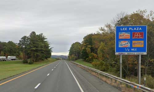 ma interstate 90 massachusetts i90 turnpike lee service plaza mile marker 8 eastbound off ramp exit