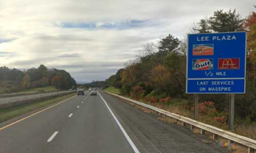 ma interstate 90 massachusetts i90 turnpike blandford service plaza mile marker 29 westbound off ramp exit