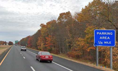 ma interstate 91 massachusetts i91 parking rest area mile marker 34 northbound off ramp exit
