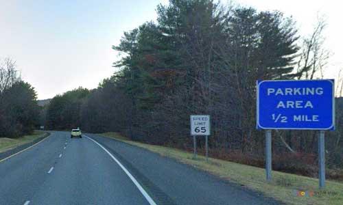 ma interstate 91 massachusetts i91 parking rest area mile marker 54 southbound off ramp exit