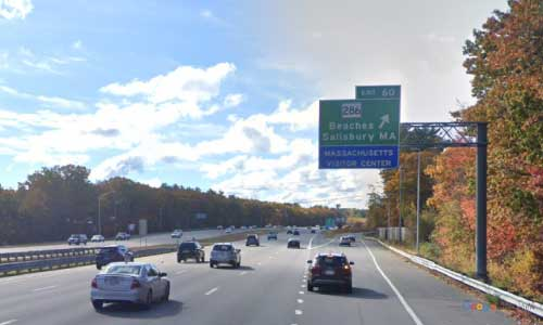 ma interstate 95 massachusetts i95 visitor center rest area mile marker 90 southbound off ramp exit
