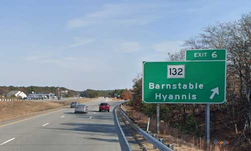 ma state route 6 massachusetts ma6 barnstable service plaza rest area eastbound mile marker 68 off ramp exit