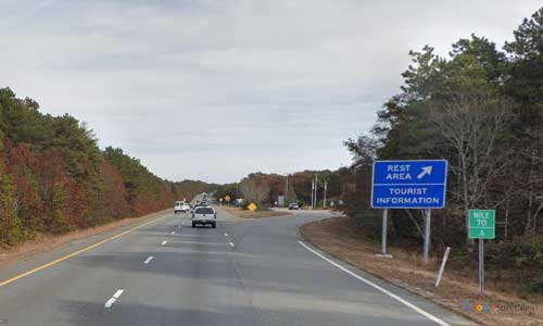 ma us route 6 massachusetts us6 cape cod visitor center rest area mile marker 70 eastbound off ramp exit